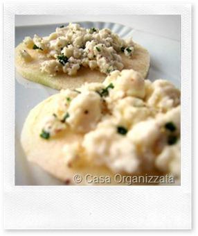 Menu di Natale tartine di mela Granny con formaggio Chvre  Casa Organizzata