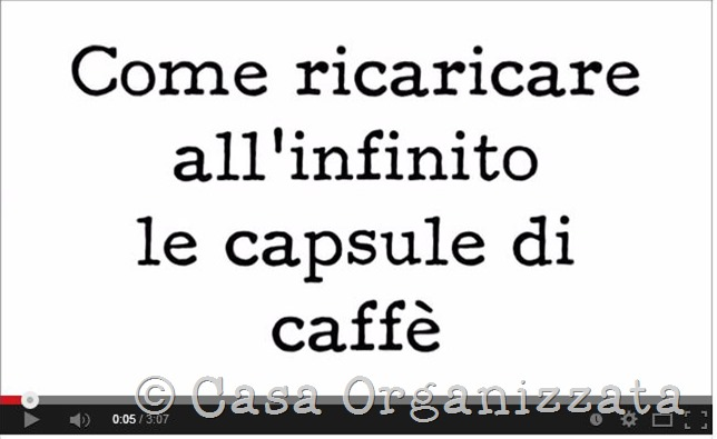 Capsule di Caffè - come ricaricarle all'infinito