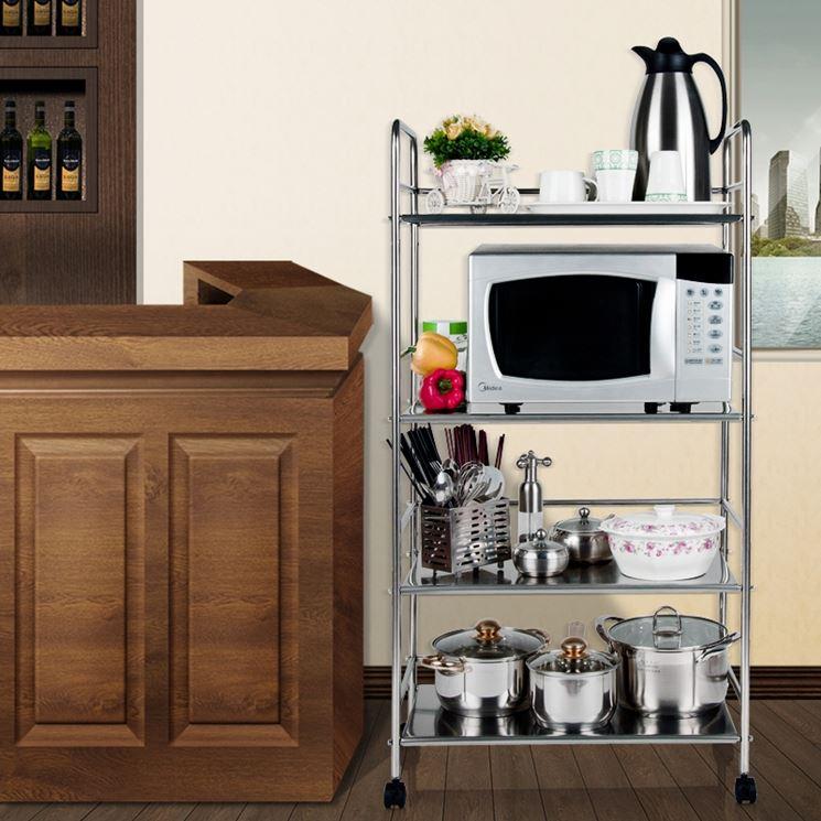 Modelli di carrelli da cucina  Componenti cucina  Carrelli cucina