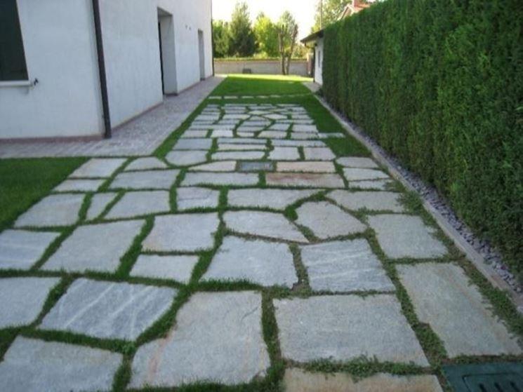 Rivestimenti in pietra per esterni  Pavimento da esterni
