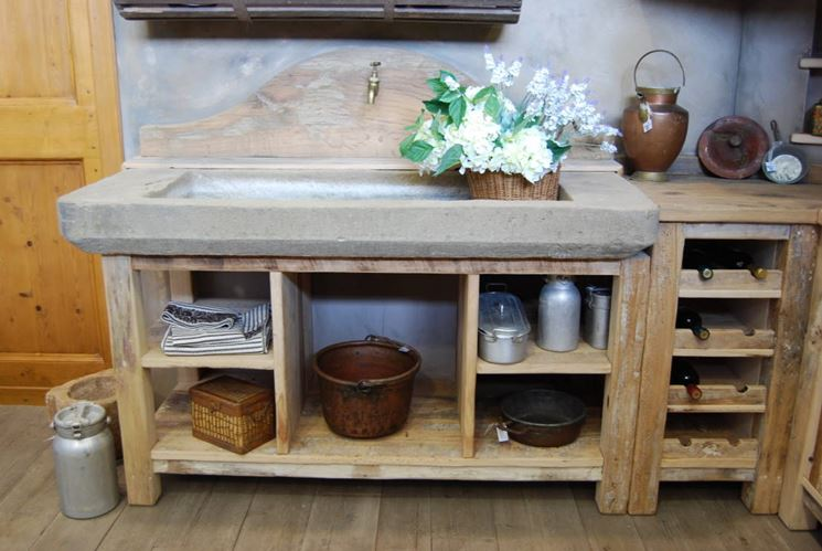 Lavelli rustici  Componenti cucina  Tipologie di lavelli