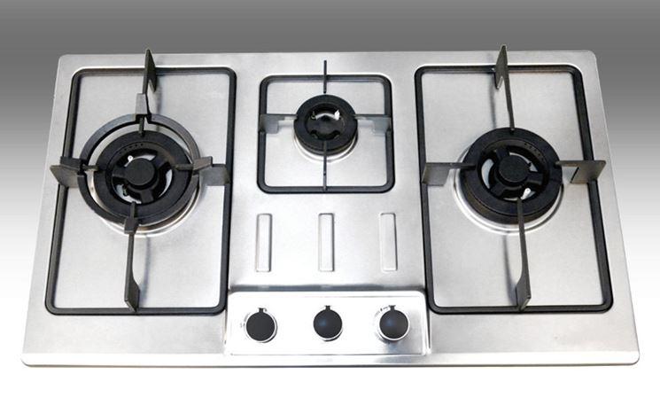 Piano cottura tre fuochi  Componenti cucina  Varie tipologie di piani cottura a tre fuochi