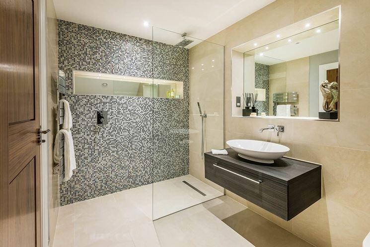 Piastrelle bagno mosaico  Le piastrelle  Decorazione bagno