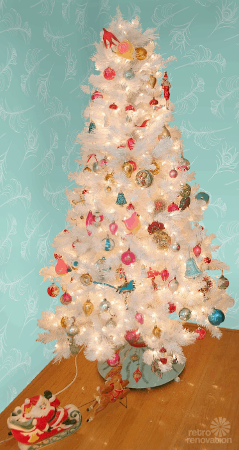 if youd like to see a larger white faux tree this is a great example from shabby fufu