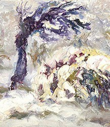 Casart coverings_Impasto Tree – Winter 3 – Katherine Collection