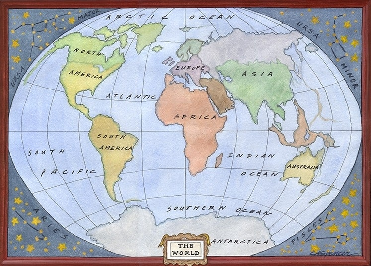 Casart coverings_World-Map_Ceiling Murals_1x