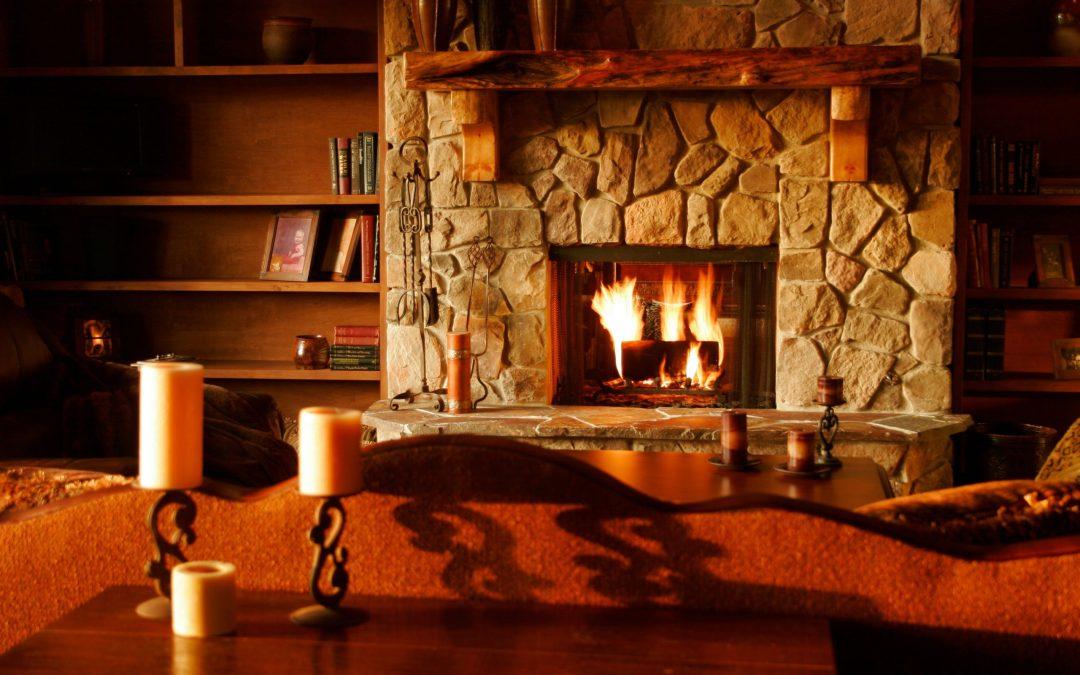 Nuestra chimenea es el refugio rural ideal en esta nevada, Toledo.