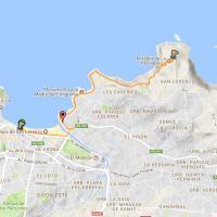 Senda desde la playa San Lorenzo al Mirador La Providencia