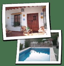 Casas rurales baratas Malaga en La Axarquia con piscina