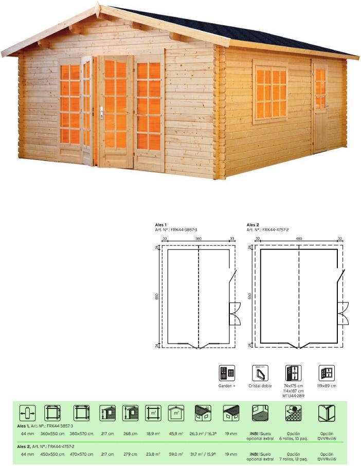 caseta madera economica Ales