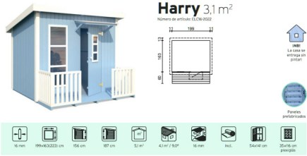 casita infantil de jardin harry