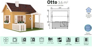 casita infantil para jardín otto Casas Carbonell