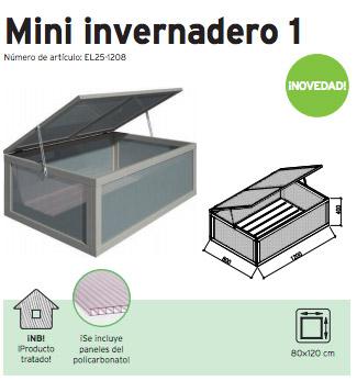 invernadero de madera mini Casas Carbonell