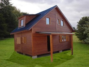 las casas de madera, modelo Nordica de Casas Carbonell
