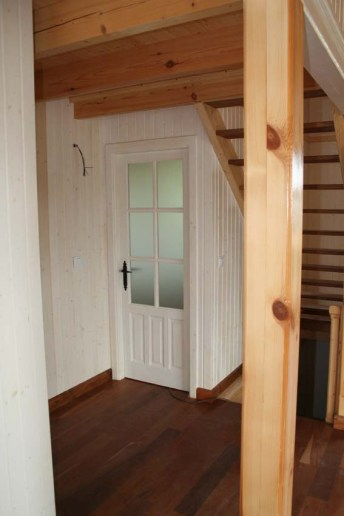 Decoración casas madera con lacado de la madera interior