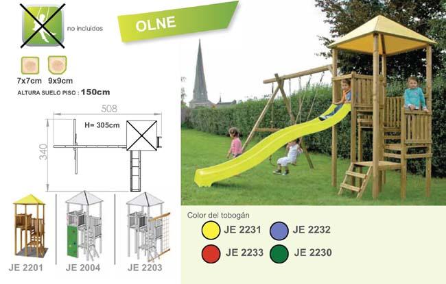 parques infantiles de madera torre olne