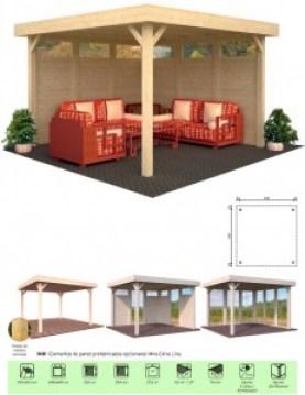 casas madera en Madrid con complementos de Casas Carbonell