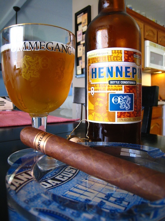 Emilio Cigars AF2 with some Ommegang Hennepin Saison