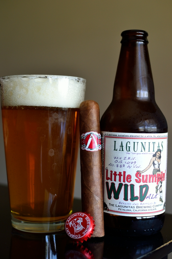 La Barba Cigars Paired with a Lagunitas Little Sumpin Wild