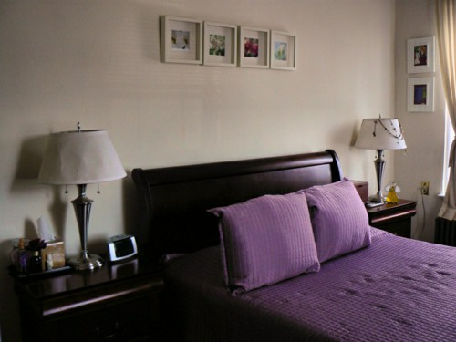 feng-shui-bed-alignment-purple-bed-linen