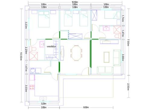 Casa modular de madera 89 metros