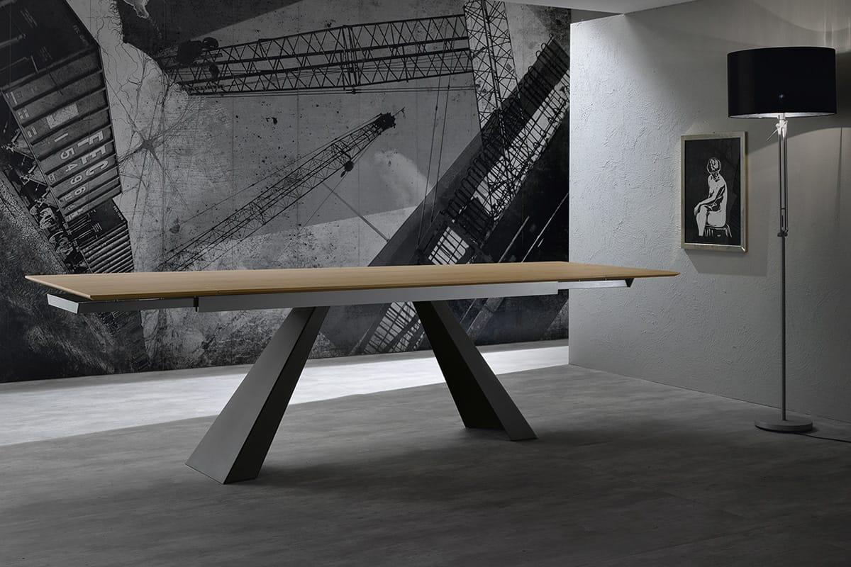 Tavolo allungabile in rovere e gambe in metallo  CasaStore Salerno