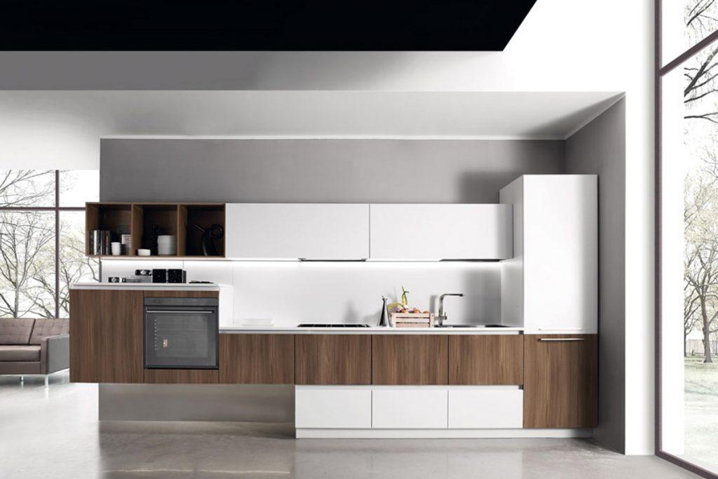 Cucina lineare con basi sospese  Arredamento Cucina CasaStore Salerno