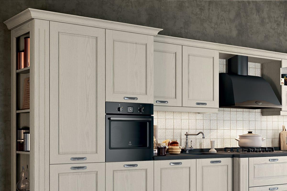 Cucina lineare in stile classico  contemporaneo  Cucine