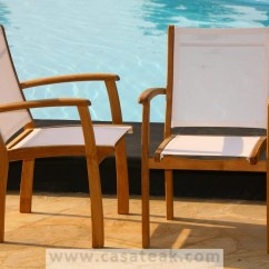 Swing Chair Penang Banquet Covers Hs Code Batyline Stacking Outdoor Garden Dining Chairs Teak