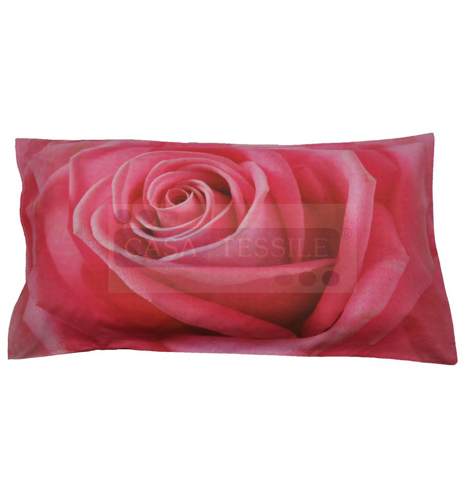 Federa cuscino letto stampa fotografica Rosa  CASA TESSILE