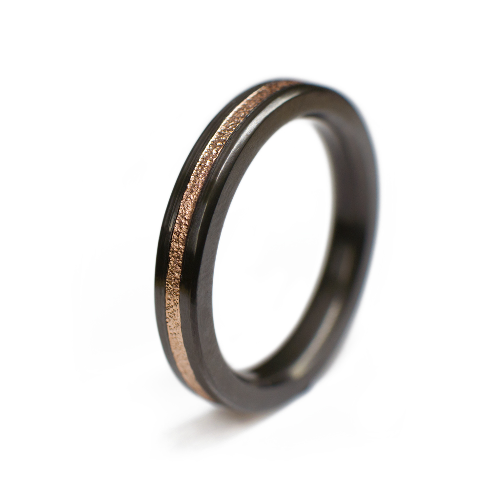 black wedding ring for her