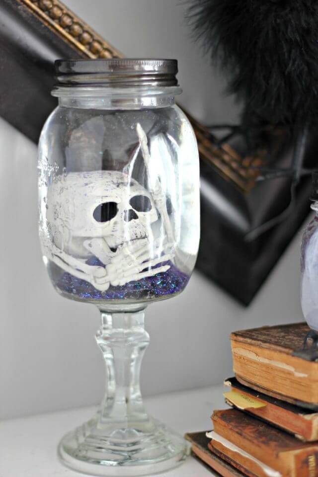 20 Ideas de Manualidades para Halloween con Tarros de Cristal
