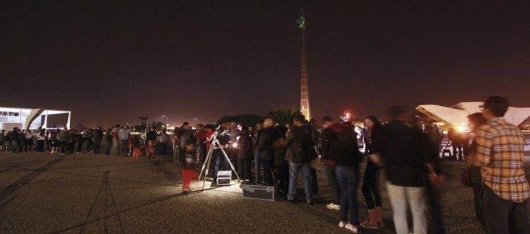 Astronomia na Praça, encontro de telescópios na Praça dos Três Poderes. Foto: Rodrigo Andolfato