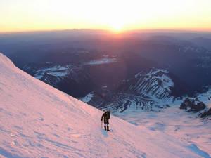 Alpenglow on Rainier