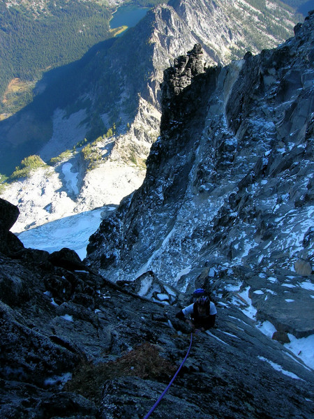 Me climbing up the West Ridge