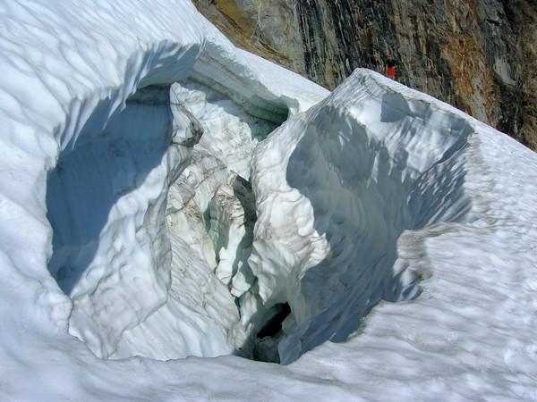 Crevasse on Sloan Glacier