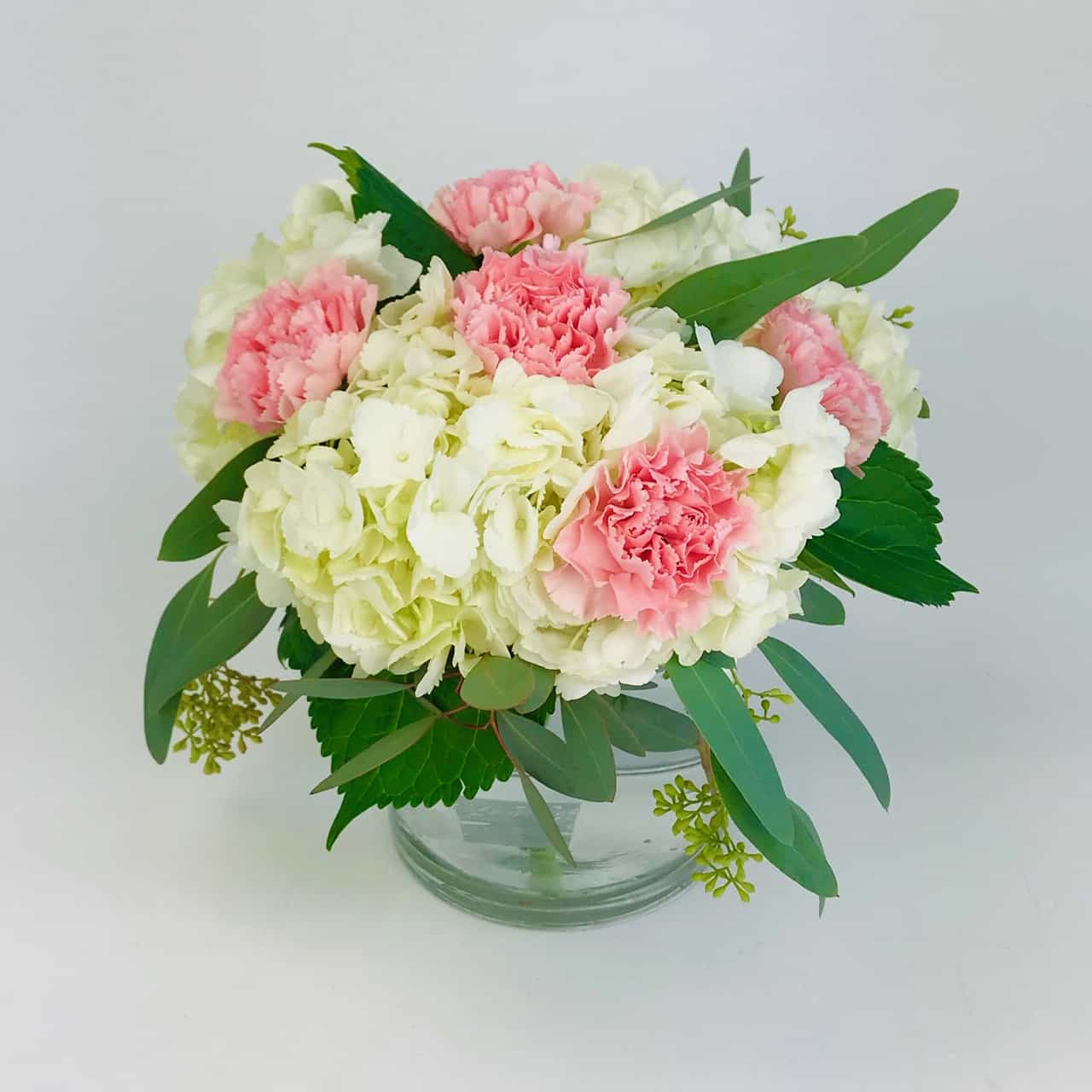 centerpiece package hydrangea and