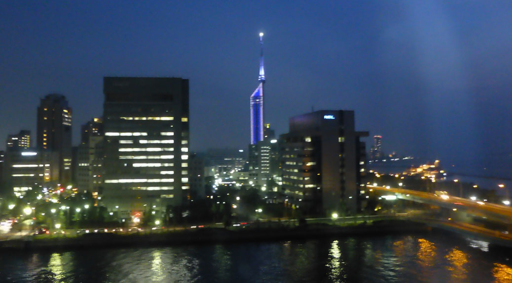 Fukuoka Tower at Night