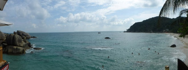 Relaxing in a cove near Lamai Beach on the east coast of Koh Samui