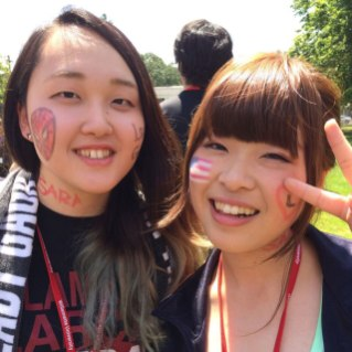Patriotic face painting for sports day.