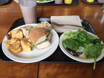 """Lunch at Goudy featuring """"American salad."""" The salad bar was pretty good!"""