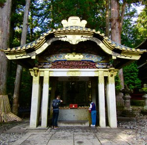 The temizuya pavilion (ceremonial hand washing) at Tōshō-gū Shrine