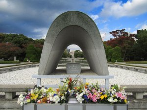 The Memorial Cenotaph at Hiroshima Peace Memorial Park