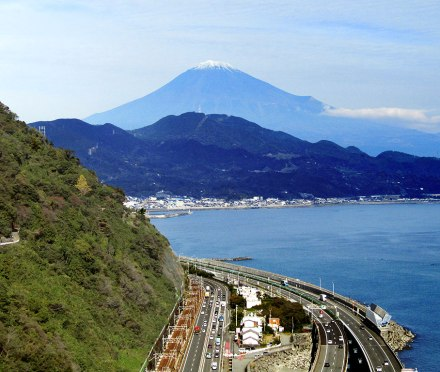 Mt. Fuji as seen from Satta Pass