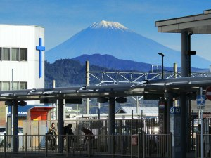 Our first view of Mt. Fuji was a surprise