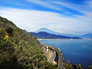 Mt. Fuji from Satta Pass from the location that inspired Hiroshige