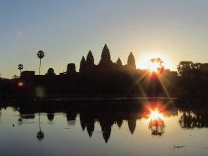 Stage 2 of the Angkor Wat sunrise. It's worth sticking around for, plus it's a good way to pass the time while waiting for the temple to open.