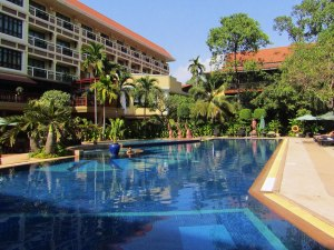 For $10 per person, per day, you can use the pool, gym and hot/cold tubs at the Prince D'Angkor Hotel.