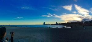 The sunset from Barceloneta.
