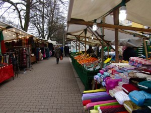 The Turkish Market in Berlin's Kreuzberg neighborhood was excellent, packed with food, produce, crafts, fabric and more.